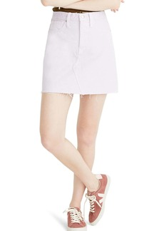Madewell Garment Dyed Denim A-Line Miniskirt