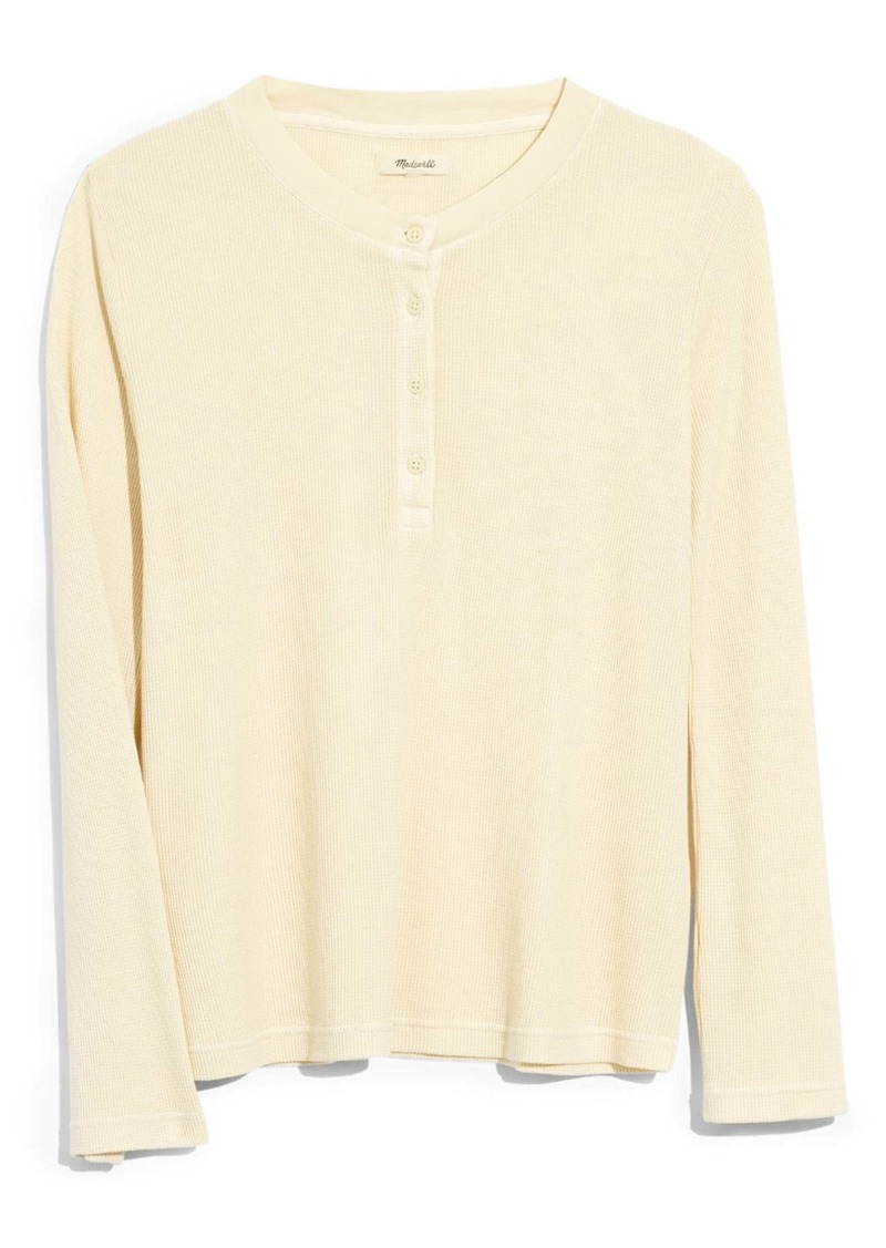 Madewell Garment Dyed Thermal Henley Tee