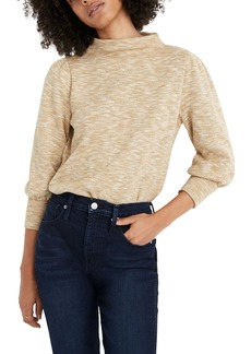 Madewell Gathered Sleeve Mock Neck Top