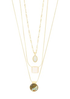 Madewell Geo-Stone Set of 3 Necklaces