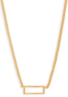 Madewell Gilded Frame Necklace