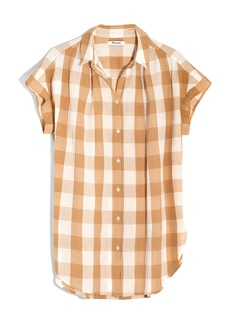 Madewell Gingham Check Central Tunic Shirt