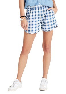 Madewell Gingham Check Pull-On Shorts