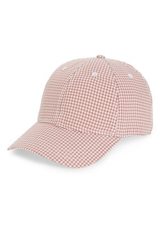 Madewell Gingham Tie-Back Baseball Cap
