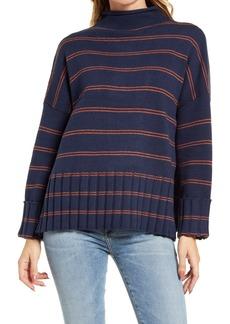 Madewell Glenmoor Stripe Mock Neck Sweater