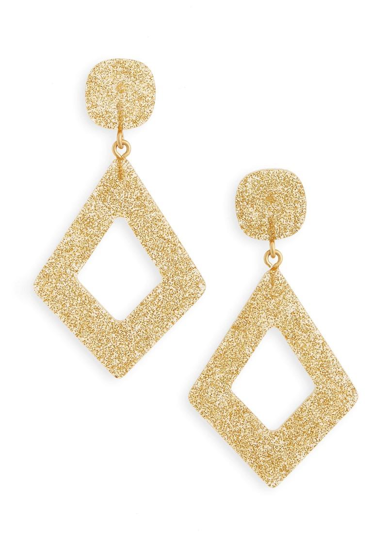 Madewell Glitter Diamond-Shaped Statement Earrings