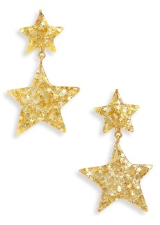 Madewell Glitter Star Statement Earrings