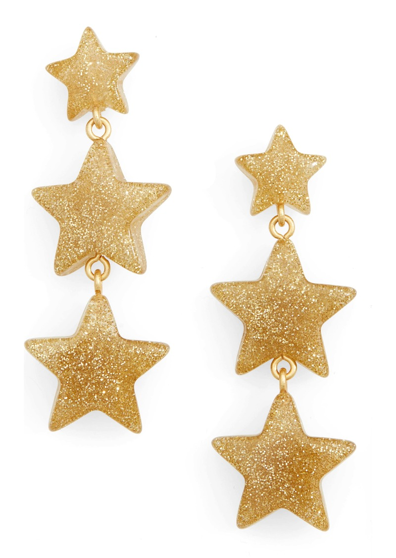 Madewell Glitter Stars Statement Earrings