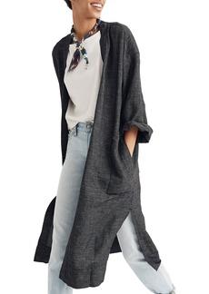 Madewell Grid Long Linen Blend Jacket