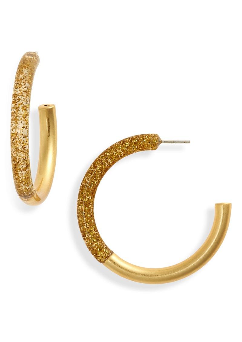 Madewell Half Acetate Hoop Earrings