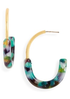 Madewell Half-and-Half Hoop Earrings