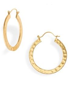 Madewell Hammered Hoop Earrings