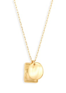 Madewell Hammered Pendant Necklace