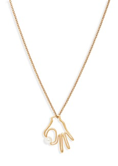 Madewell Hand Jive Pendant Necklace