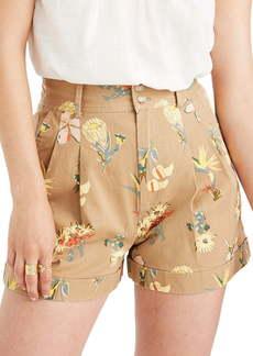 Madewell Hawaiian Hideaway Pleated Shorts