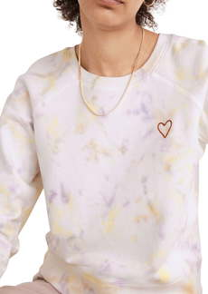 Madewell Heart Embroidered (Re)sourced Cotton Tie Dye Sweatshirt