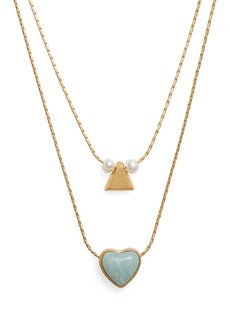 Madewell Heart Rock Necklace Set