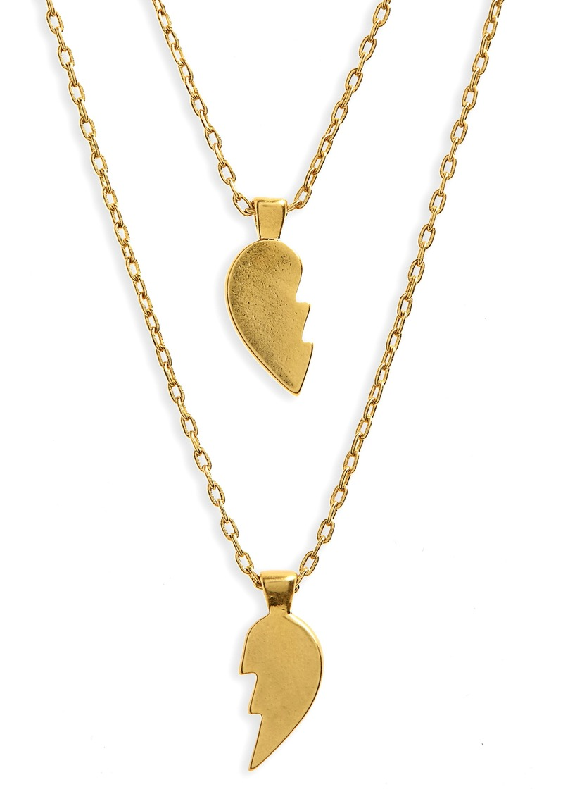 Madewell Heartbreak Friendship Necklace Set