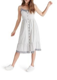 Madewell Heather Embroidered Stripe Dress