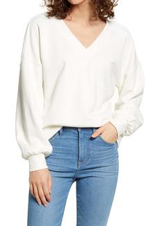 Madewell Hemp & Organic Cotton Blend V-Neck Sweatshirt