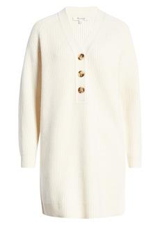 Madewell Henley Long Sleeve Sweater Dress