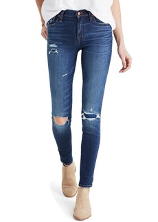 Madewell High 9-Inch High-Rise Skinny Jeans: Ripped and Patched Edition (Marion)