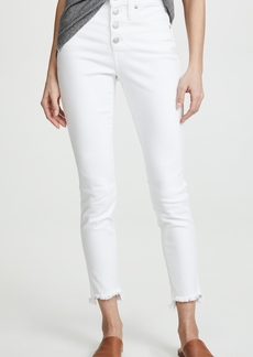 Madewell High-Rise Skinny Jeans in Pure White: Step-Hem Edition