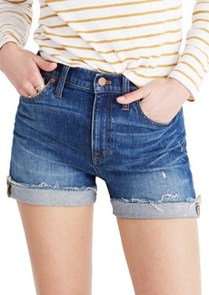 Madewell High Rise Cuffed Denim Shorts (Glen Oaks)