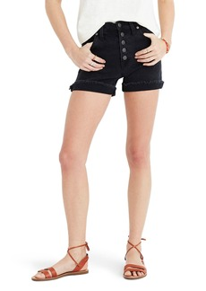 Madewell High Rise Denim Shorts (Faded Black)