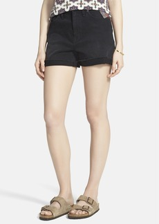 Madewell High Rise Denim Shorts (Washed Black)