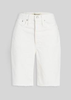 Madewell High Rise Long Denim Shorts