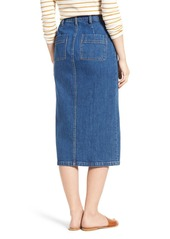 2f60614cce Madewell High Slit Denim Midi Skirt Madewell High Slit Denim Midi Skirt