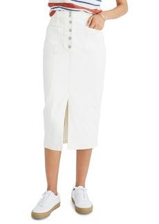 Madewell High Slit Denim Skirt