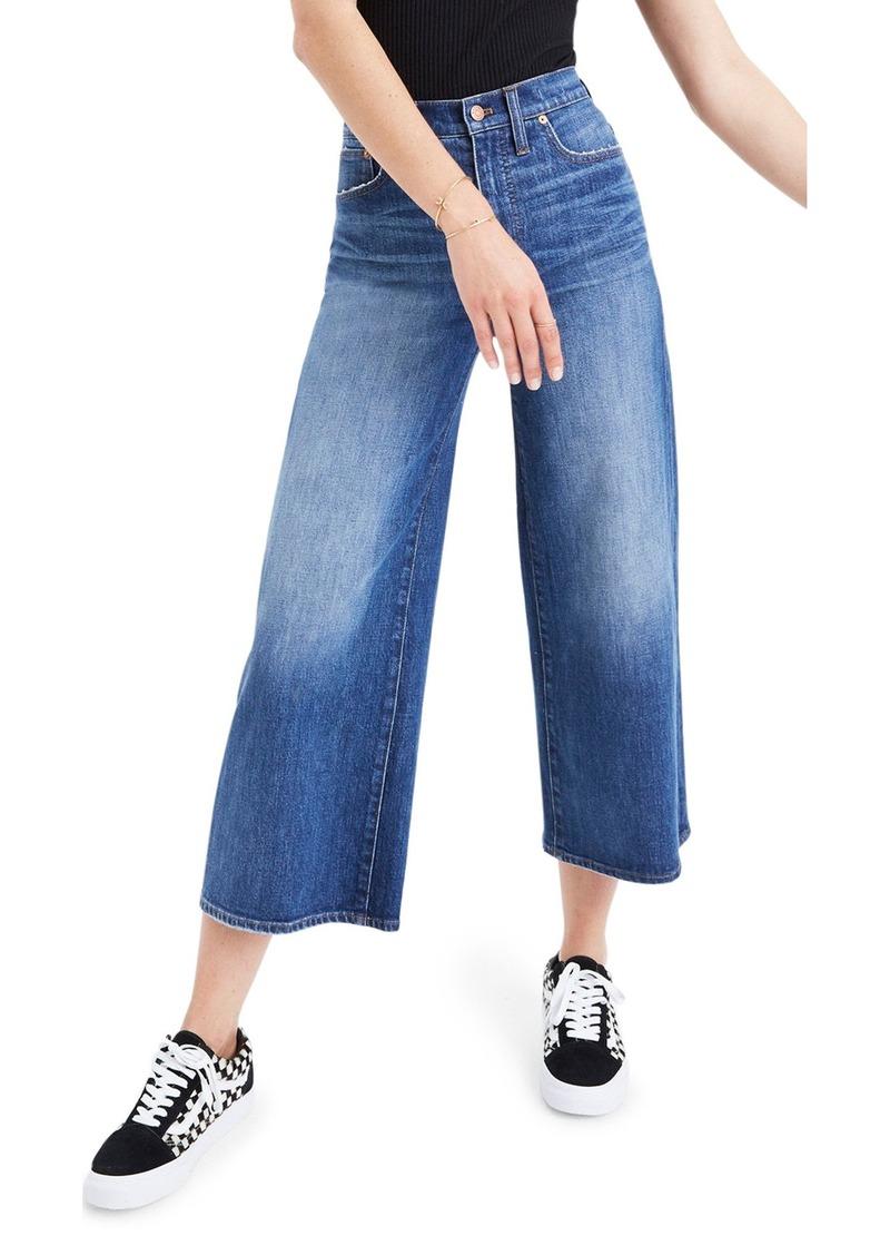 2019 discount sale baby amazing price Madewell Madewell High Waist Crop Wide Leg Jeans (Bainbridge Wash)   Denim