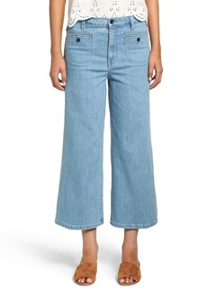 Madewell High Waist Crop Wide Leg Jeans (Edgeley Wash)