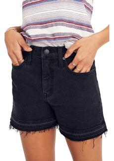 Madewell High Waist Drop Hem Denim Shorts (Clint)