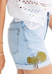 Madewell High Waist Embroidered Denim Shorts (Bartlett)