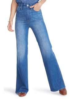 Madewell High Waist Flare Jeans (Mossbrook Wash)