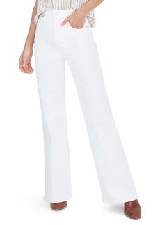 Madewell High Waist Flare Jeans (Tile White)