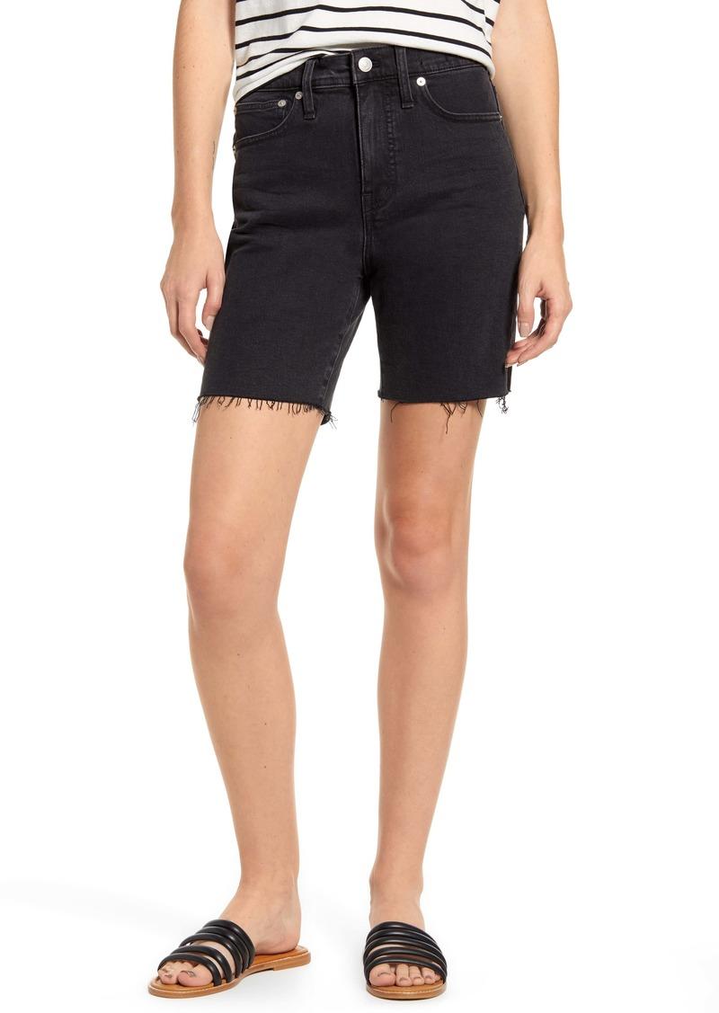 Madewell High Waist Mid Length Denim Shorts (Lunar)