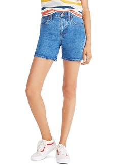 Madewell High Waist Pieced Denim Shorts (Wylie)