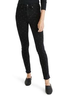 Madewell High Waist Skinny Jeans: Metallic Rainbow Dot Edition