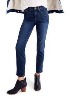 Madewell High Waist Slim Straight Leg Jeans (William Wash)