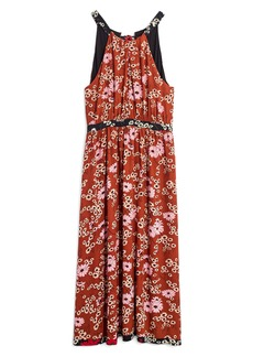 Madewell Hillside Daisies Halter Maxi Dress