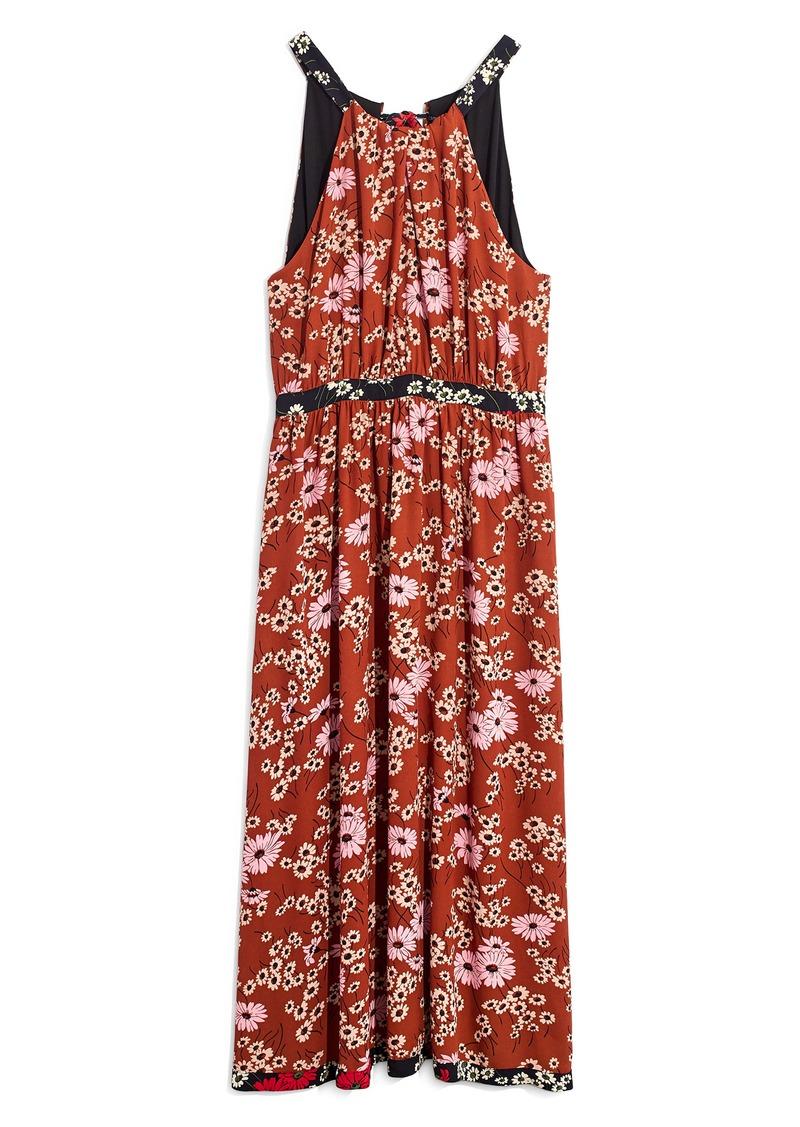 Madewell Hillside Daisies Halter Maxi Dress
