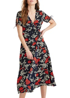 Madewell Hillside Daisies Peekaboo Sleeve Midi Dress (Regular & Plus Size)