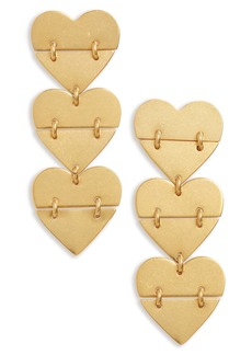 Madewell Hinged Heart Earrings