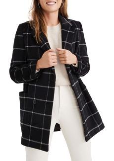 Madewell Hollis Windowpane Check Double Breasted Coat