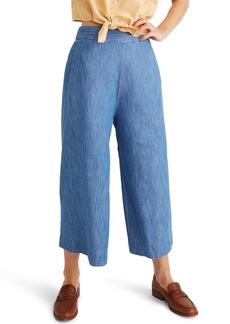 Madewell Huston Pull-On Chambray Crop Pants