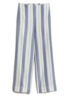 Madewell Huston Stripe Linen & Cotton Pull-On Crop Pants